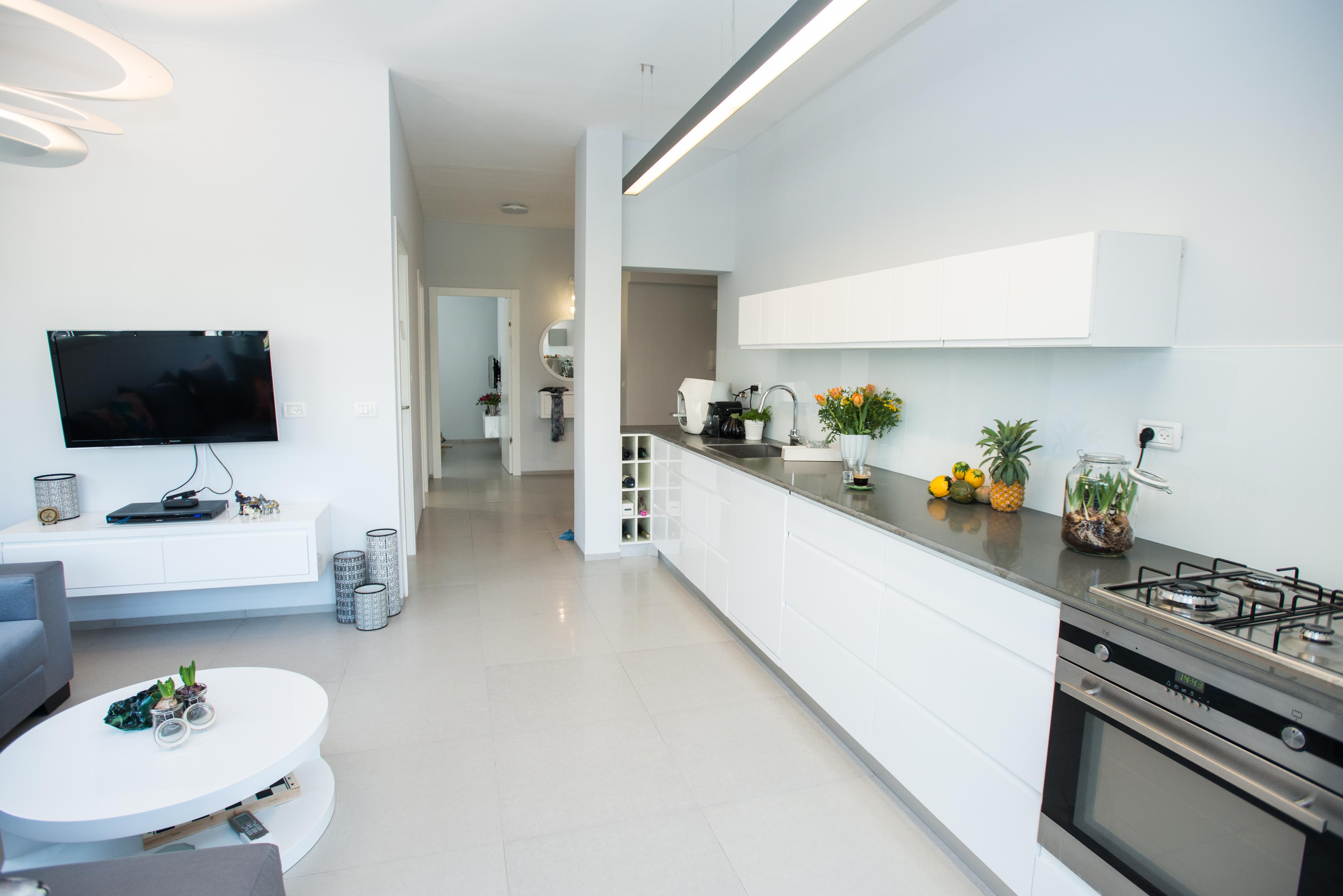 דירה עיצוב פנים עיצוב סלון דירה תל אביב